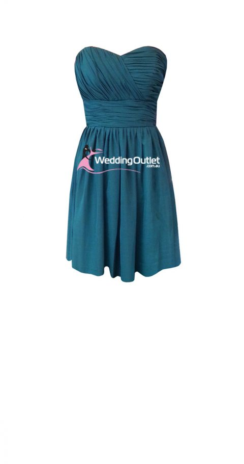 Teal Short Bridesmaid Dresses Style #O101
