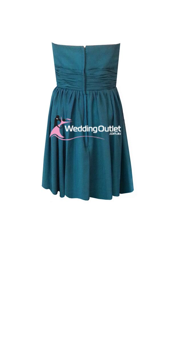 Teal Short Bridesmaid Dresses Style O101 Weddingoutlet