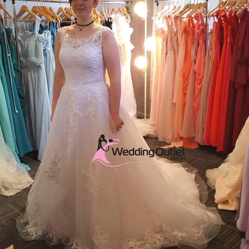 Aline Wedding Gown: Kennedy A-Line Simple Lace Luxury Wedding Gown