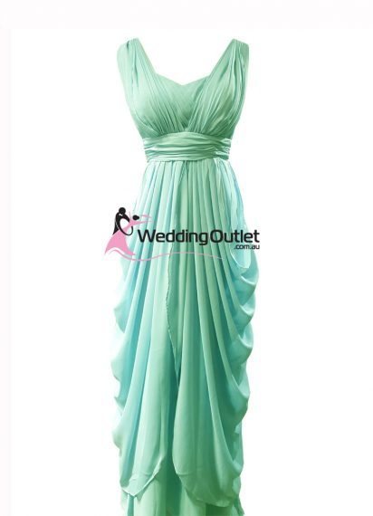 Mint Green Bridesmaid Dress Style #AU101