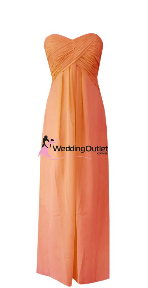 Burnt Orange Bridesmaid Dresses Style #R101