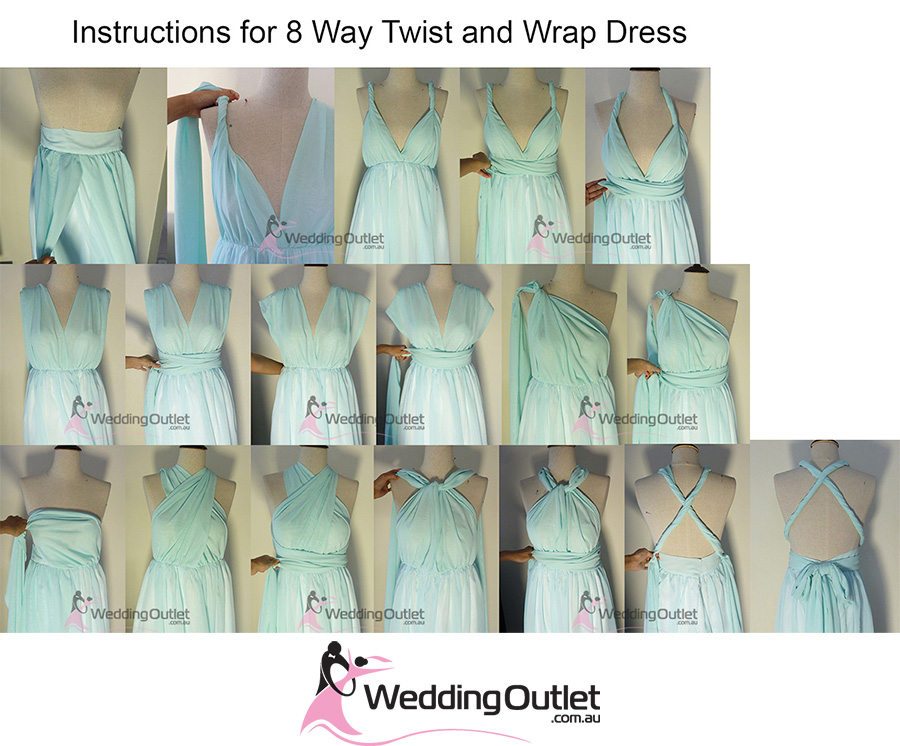 Eight Way Twist and Wrap Bridesmaid Dress