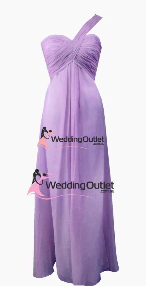Violet Purple One Shoulder Bridesmaid Dress Style #F101
