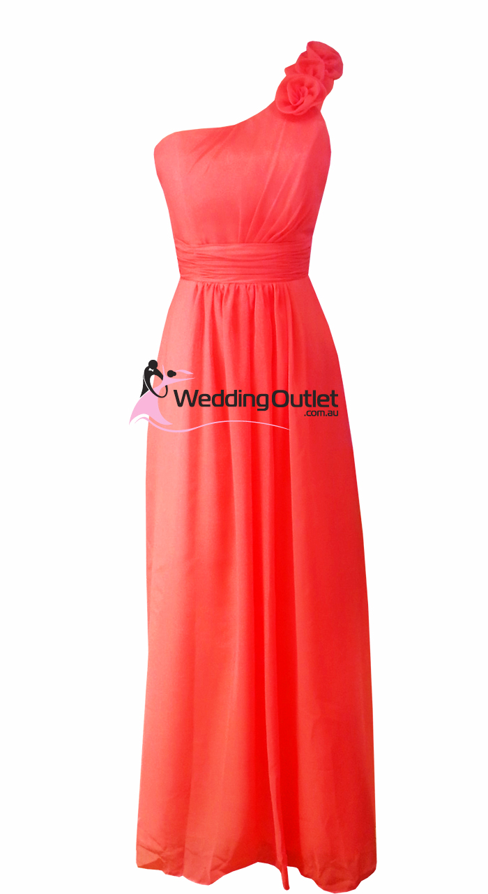 Watermelon Bridesmaid Dress Style Ae101 Weddingoutlet